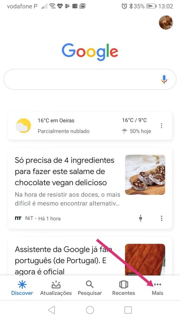Assistente do Google - Configurar