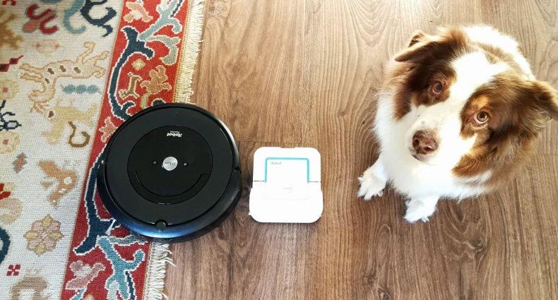 Roomba e5, Braava Jet 240, da iRobot, e a minha Fanta