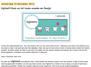 Juf Shanna schrijft over high teeth