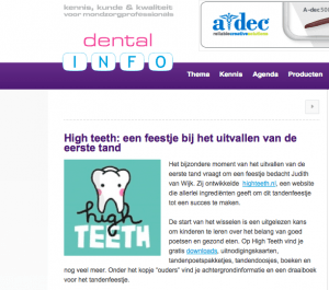 Publicatie Dental info