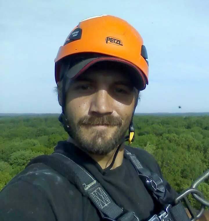 Joel Metz on tower