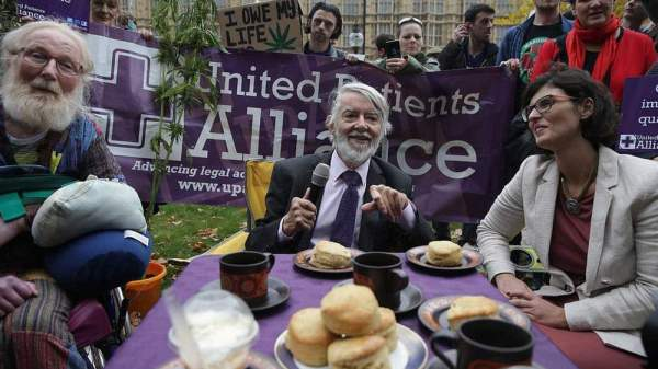 Protesters Have 'Cannabis Tea Party' Outside Parliament