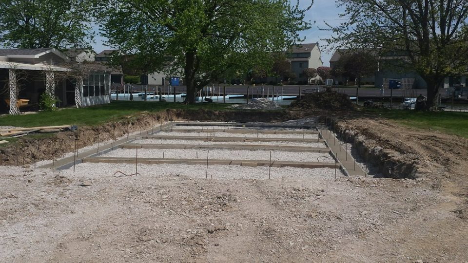 High Touch Homes Catawba Island footers-side-view