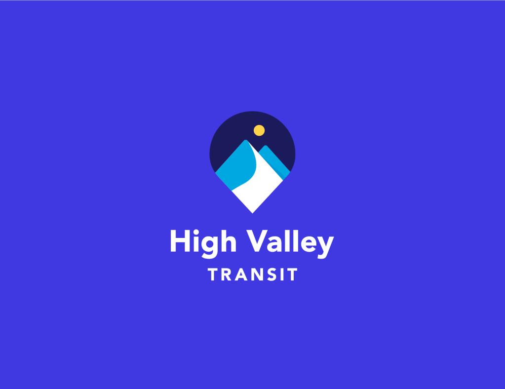 High Valley Transit Logo w/ blue background