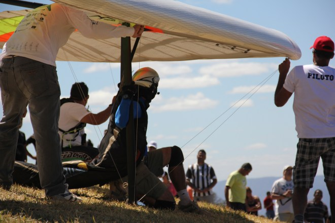 Take off pad - Hang gliding in the Paranã valley Brazil