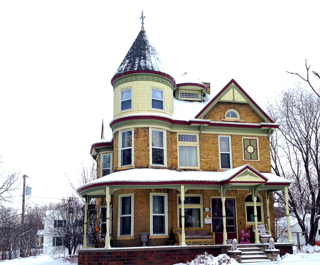 Image result for third story houses wrap around porch turret