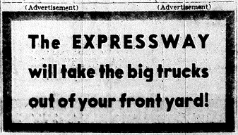june 5 1950-take the big trucks out of your yard-political ad