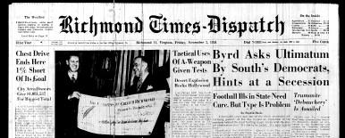 Nov. 2 1951, Front page