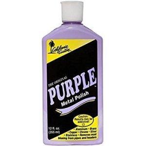 California Custom Purple Metal Polish 12 oz. Bottle