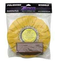 Yellow Airway Buffing Wheel with Brown Rouge Bar
