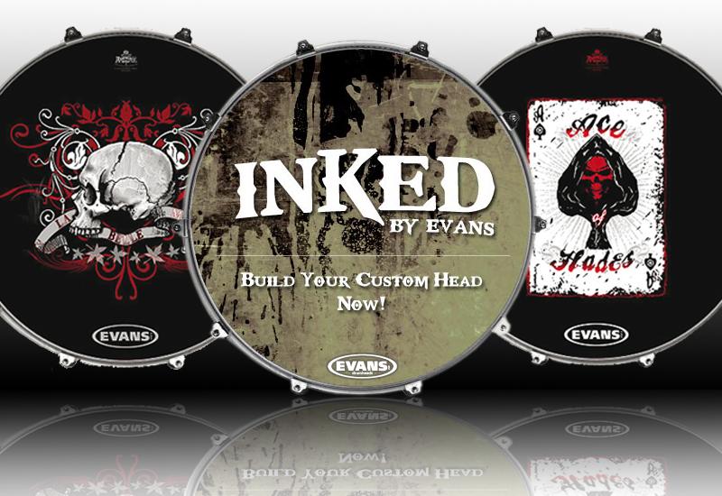 inked by evans custom heads on your highwood drums. Black Bedroom Furniture Sets. Home Design Ideas