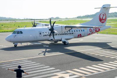 JAC・ATR42天草空港到着