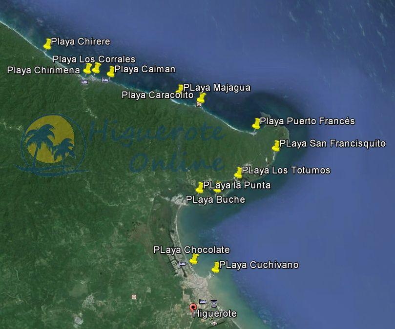 Playas aptas y no aptas dentro del municipio Brión del Edo. Miranda