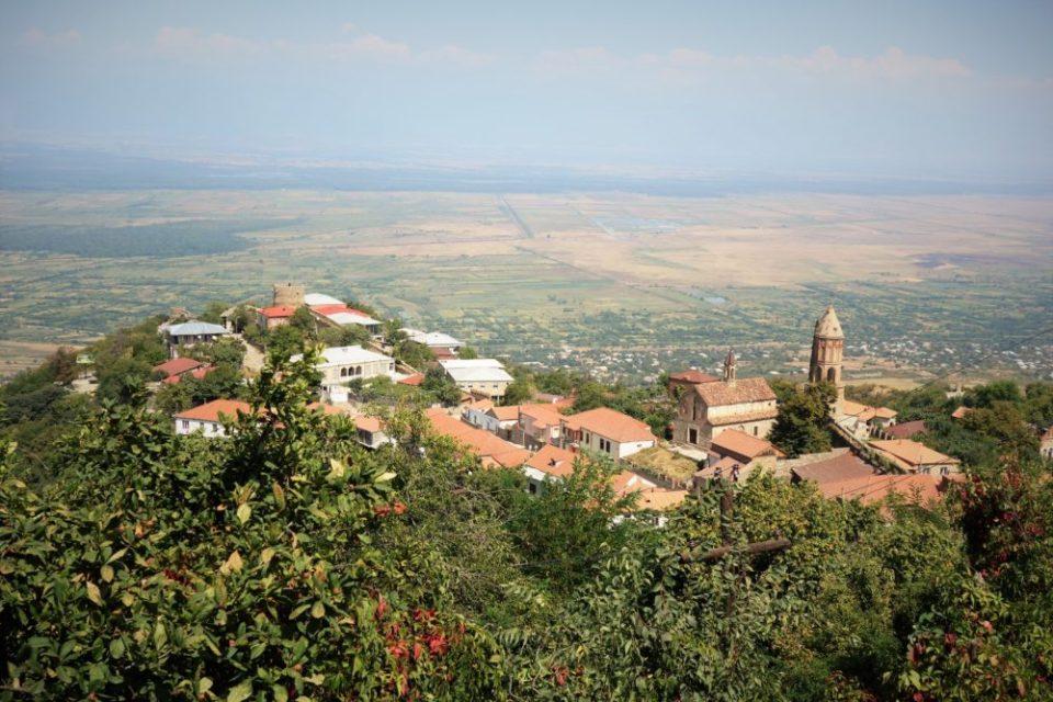 The panorama of Sighnagi, the Georgian wine capital.