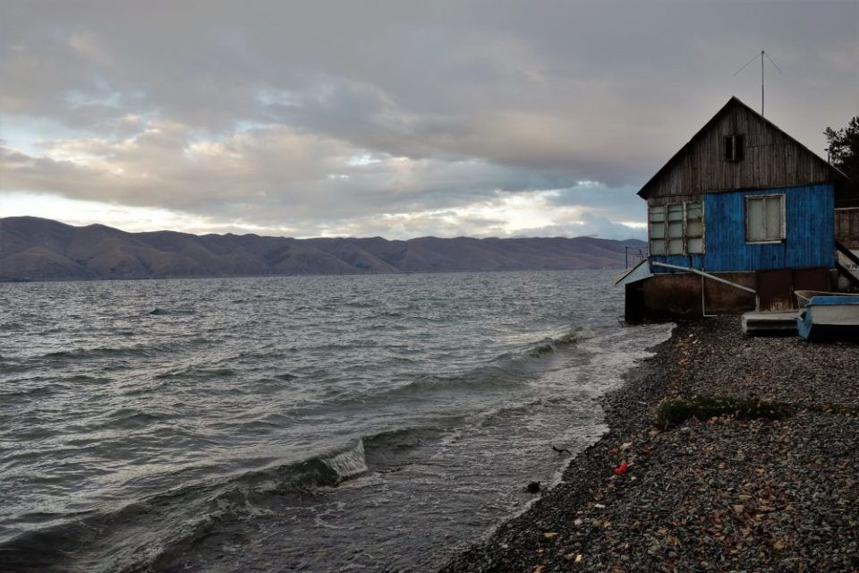 The Sevan Lake, equally pretty and cold.