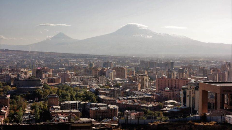 The panorama of Yerevan.