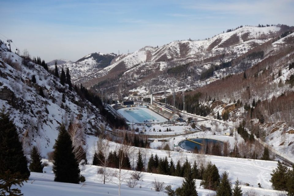 "The Meseu Stadium on the ""upburbs"" of Almaty"