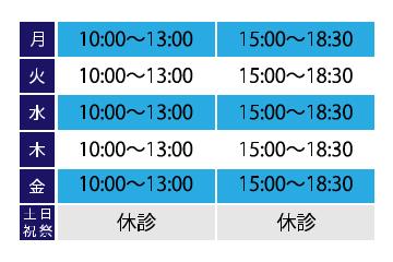 皮フ科早川クリニックは、平日10時〜13時。15時〜18時半まで受診可能