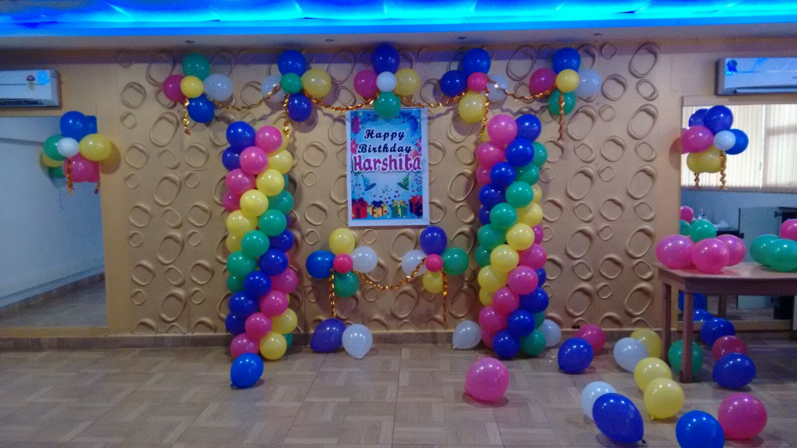 simple birthday party balloon decoration