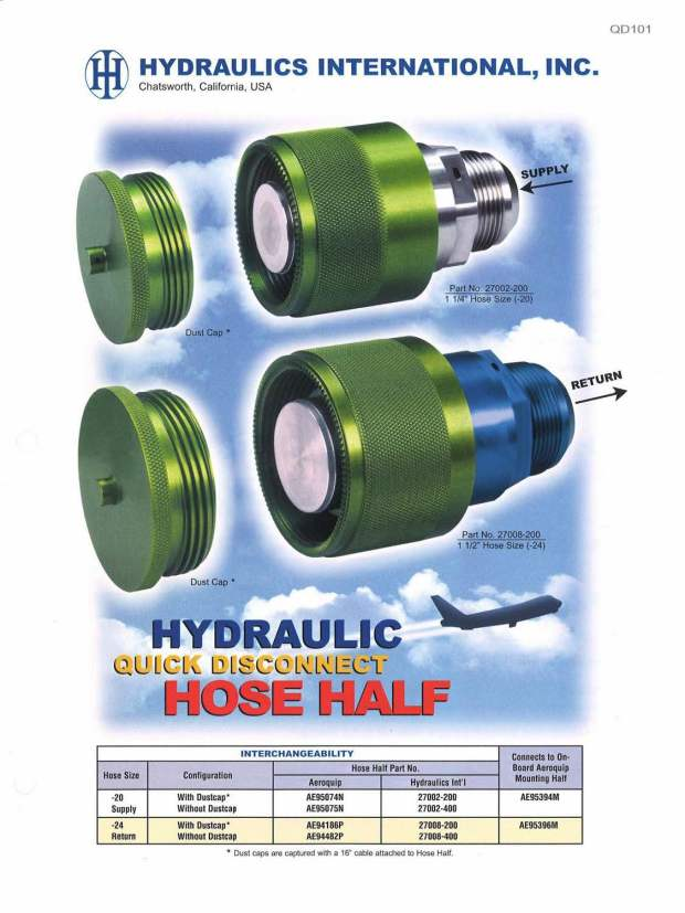QD101 Series Hydraulic Quick Disconnect Couplings (QDC)