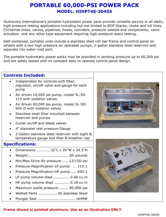 Hydraulic Hose Testing Stand, Aerospace Hoses Burst Test Stand