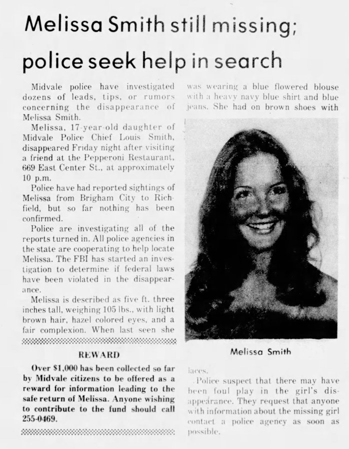 Melissa Smith Ted Bundy clipping missing