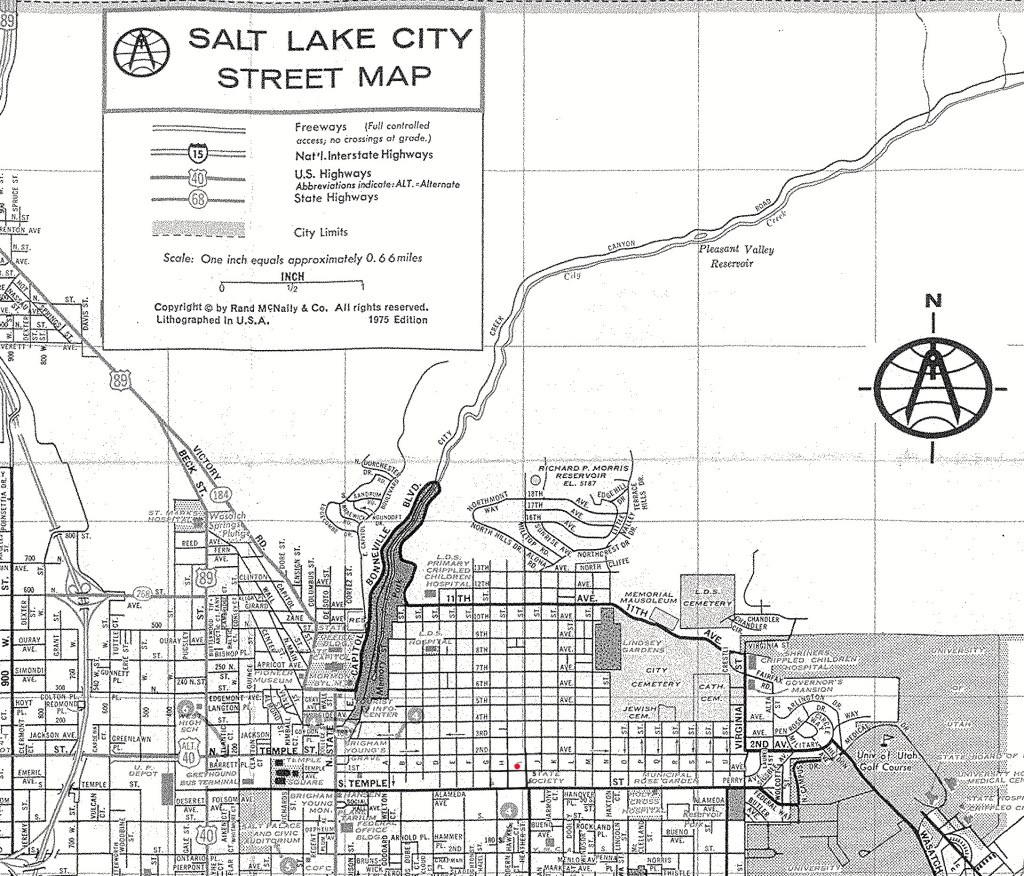 Ted Bundy Salt Lake City map