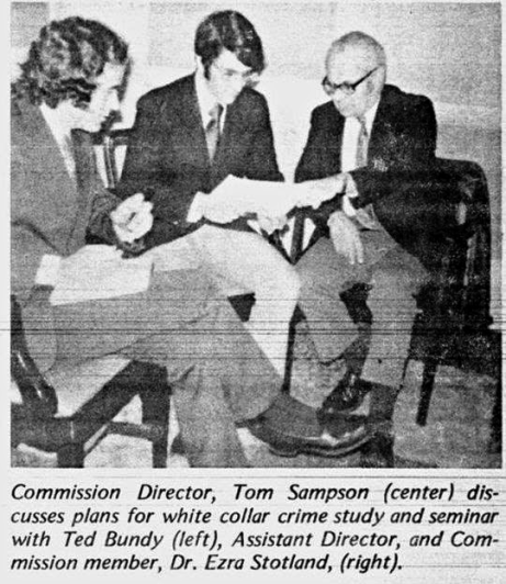 Ted Bundy Seattle Advisory Commission Crime Prevention 1972