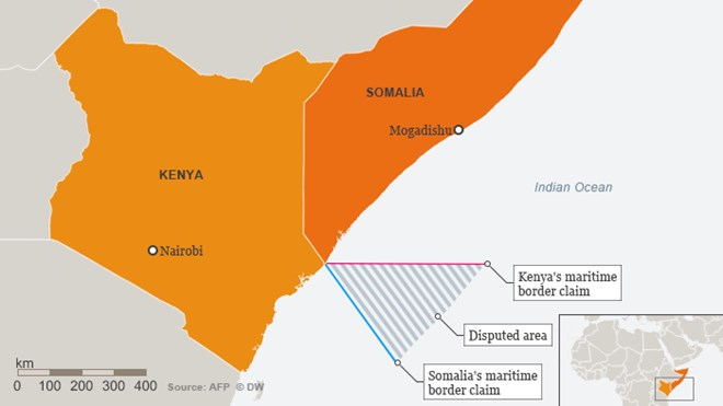 For years, Kenya and Somalia have argued over where their maritime boundary in the Indian Ocean runs. The International Court of Justice in The Hague could now decide who owns the sea, a decision that will only suit one.