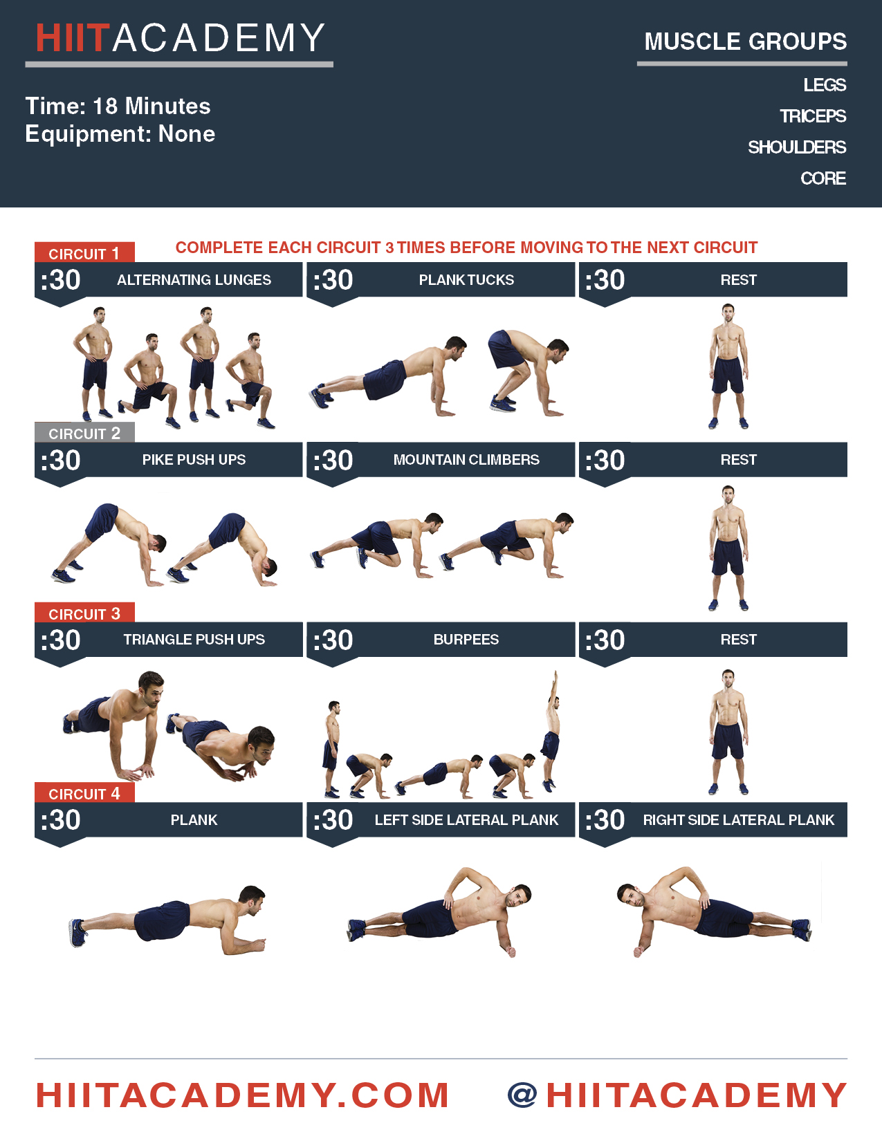 hiit body weight workout for men