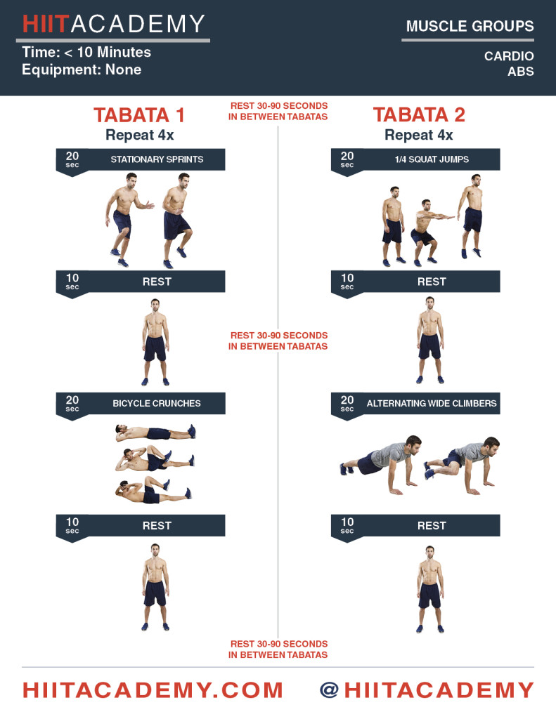 cardio ab tabata time hiit academy workouts for men