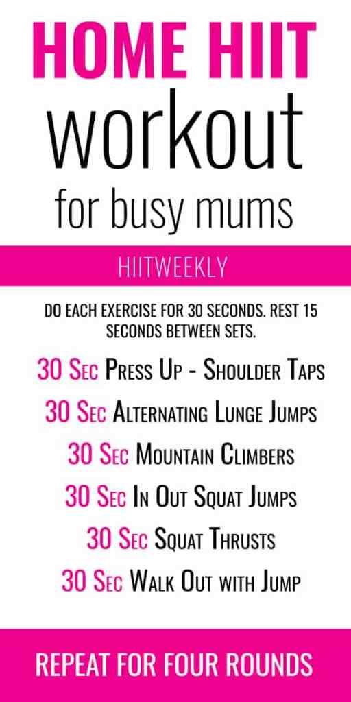 home hiit workout for moms