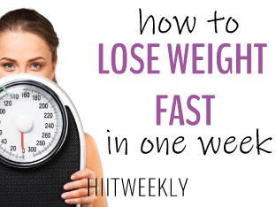 how to lose weight fast in one week