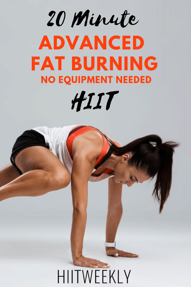 The best 20 minute advanced fat burning HIIT workout you'll do this year. Ideal for weight loss. Weight Loss HIIT Workout For Women.