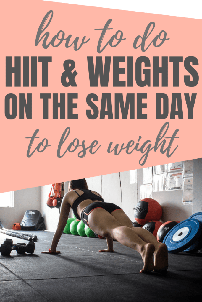 Do you want to train twice a day but are not sure how to get started. This is how you can do booth HIIT and weight training on the same day.