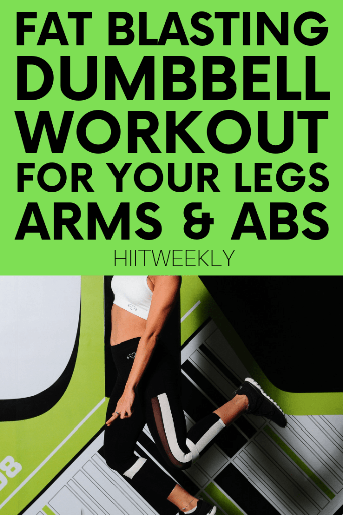 Blast that fat with this fun but hard dumbbell HIIT workout that you can do at home or take to the gym with you. Complete with exercise demos to make sure you do everything correctly for maximum results. This is one of our most popular hiit workouts with weights.