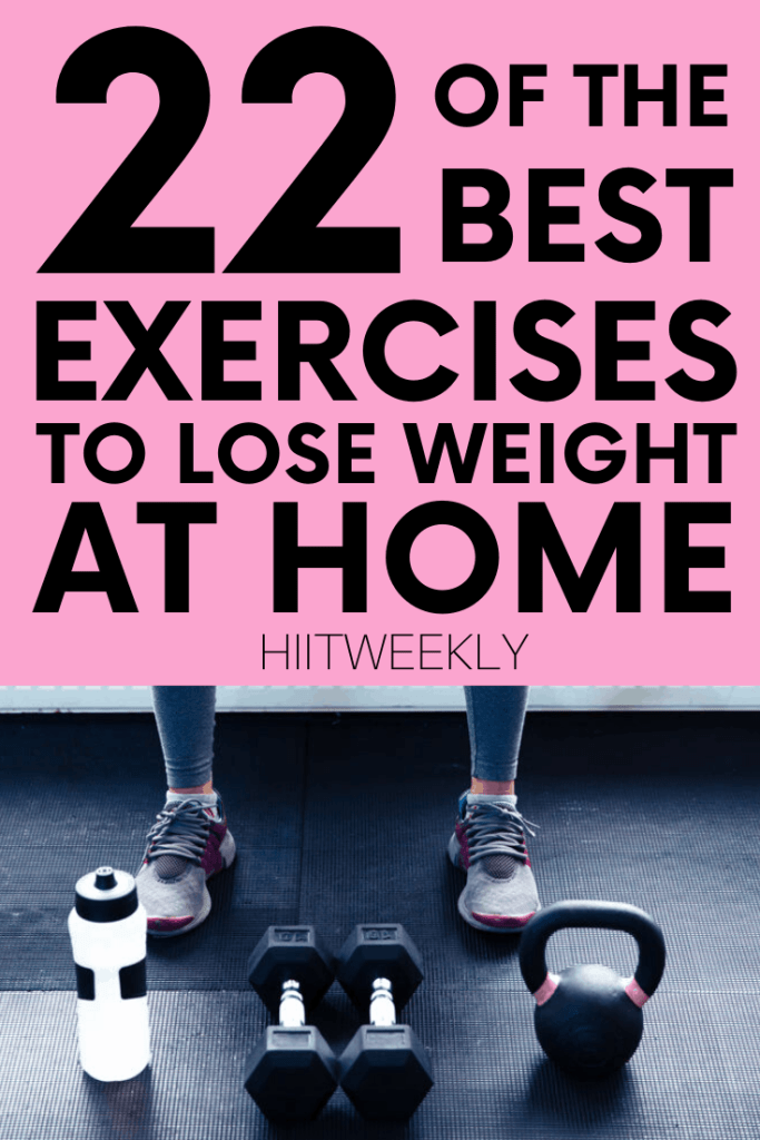 These are the best weights and no equipment exercises you can do to lose weight that can be done at home or at the gym to help you get that body you've always dreamed of.
