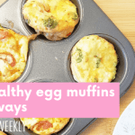You nee to try these egg muffins, they are the perfect high protein snack or on the go breakfast option.