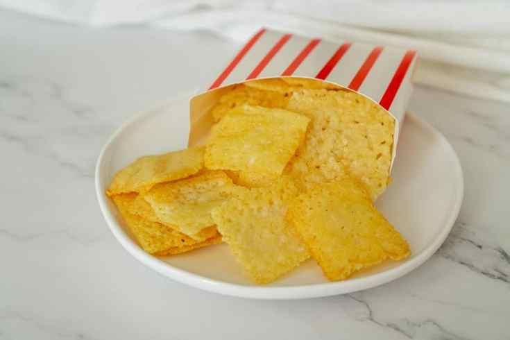 Keto Asiago Cheese Crisps