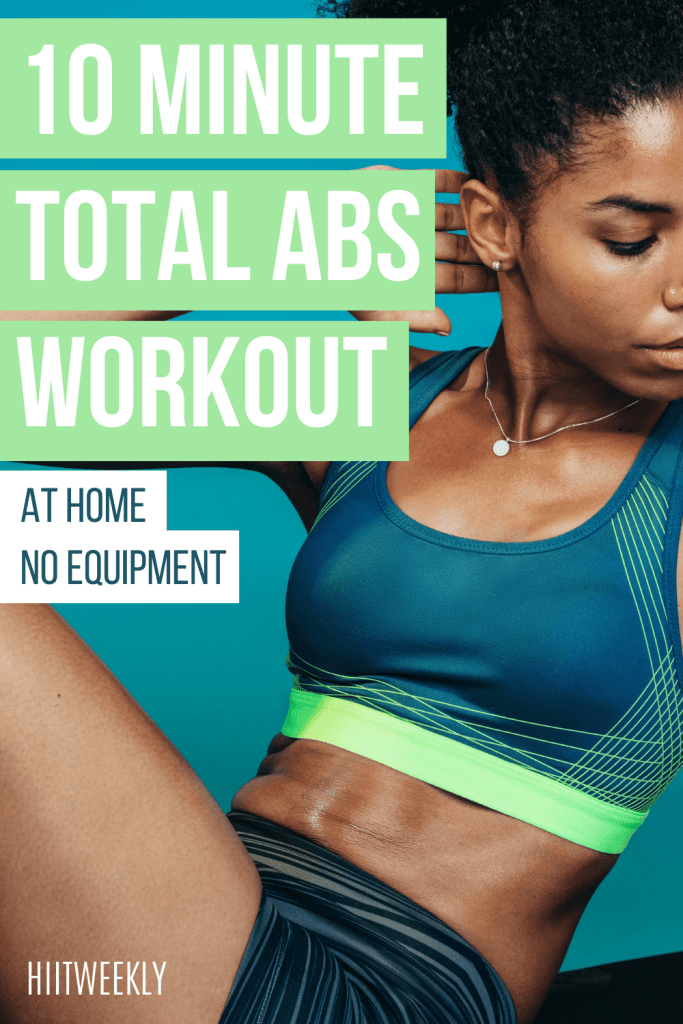 This 10 minute abs workout for ladies will get you nice toned abs in no time. Do this abs workout three days a week for great looking abs.