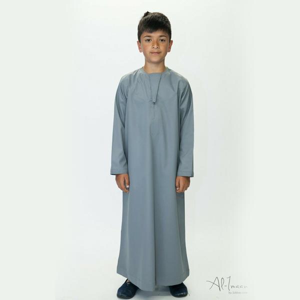 Boys Kids Omani Style Thobe Thoub Robe Daffah Dishdasha Islamic Arabian Kaftan