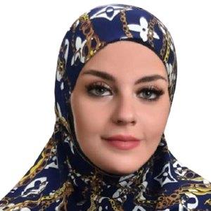 Al-Amira Hijab with Contrasting Geometric Print