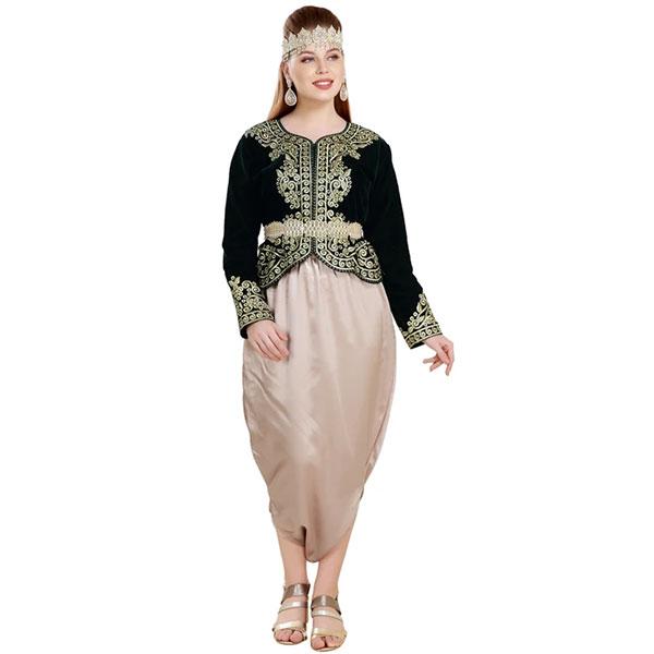 Traditional Algerian Dress Velvet Caftan Top