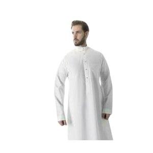 Men Bisht Arabic Dress Cloak Islamic Men Thobe - white