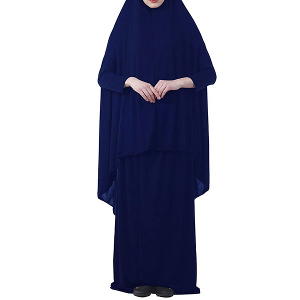Everyday 2pcs Skirt and Hijab Set - Navy