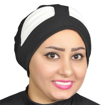 Turban Head Hijab Turban Wrap Cover Cotton Spandex Blend – Black