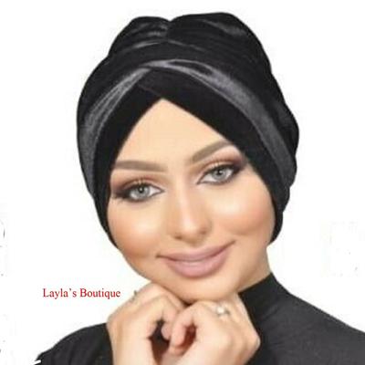 Turban, Headwrap, Fashion Turban CapBlack