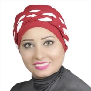 Women Turban Two-Tone Double Braid Turban Cotton Spandex Blend – Burgundy