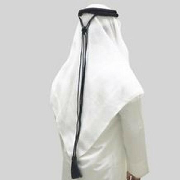 Black Igal Agal Saudi Emrati UAE Gulf Head Ring Mens Sheikh