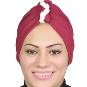 Stretch Hijab Turban Hat Head Wrap Women Muslim Bandanas Chemo Cap – Red